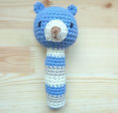 Sonajero amigurumi Teddy Bear, Niños y bebé, Accesorios, Niños y bebé, Juguetes, Crochet, Juguetes, Juguetes, Amigurumis