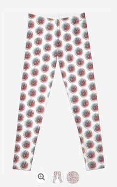 Aqua Dots Legging - JUSTART on Redbubble #justart #rb #redbubble #legging #fashion #clothing #dots #aqua #circle #red #white #retro