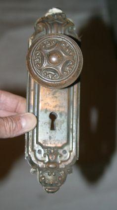 Antique door knob and plates $28
