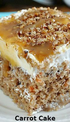 Carrot.Cake.Poke.Cake #recipe for you