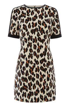 LULU LEOPARD SHIFT DRESS | Multi | Oasis Stores