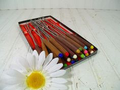 Retro Fondue Party Set of Forks  Vintage 1970s by DivineOrders, $32.00