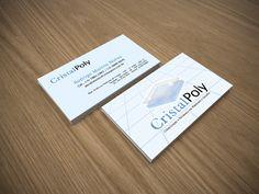 Criação de cartão de visita para a empresa CristalPoly. A arte foi criada baseada na identidade visual também criada pela D2B Comunicação.