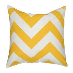 Elisabeth Michael // Chevron Yellow Throw Pillow