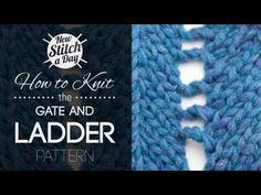 The Gate and Ladder Pattern :: Knitting Stitch #179 :: New Stitch A Day