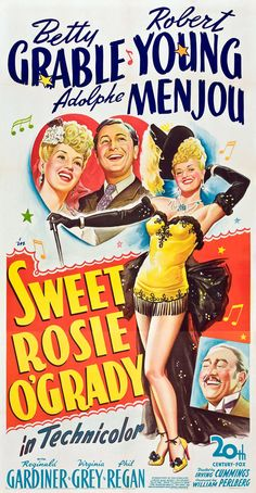 SWEET ROSIE O'GRADY (1943) - Betty Grable - Robert Young - Adolphe Menjou - 20th Century-Fox - Movie Poster