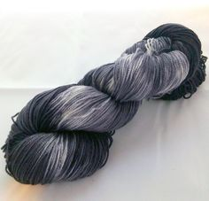 Dark and Dreary Sock Weight Hand Dyed Black by ApocalypseFriday