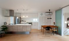 vol99|2階建て建築事例|建築事例|注文住宅|ダイワハウス Dining Room, Kitchen, Table, Furniture, Home Decor, Kitchens, Architecture, Home, Cooking