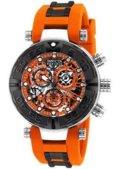 Men's Ltd Ed Subaqua Reserve Chronograph Orange Polyurethane