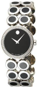 Movado Women's 606096 Ono Stainless-Steel And Ceramic Bracelet Watch