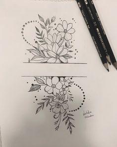 Art Drawings Sketches Simple, Pencil Art Drawings, Doodle Drawings, Tattoo Drawings, Body Art Tattoos, Sleeve Tattoos, Tattoo Sketches, Tatoos, Bullet Journal Writing