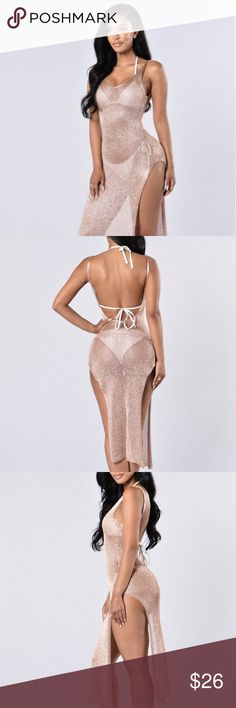 fadf3629694 Fiji Cover Up Rose Gold Dress Beautiful rose gold cover up dress, never  worn tag