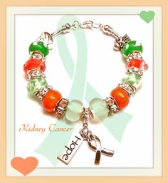 Kidney Cancer Awareness European Style by JannysStorybeads on Etsy, $35.00