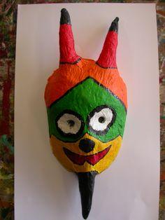 Mask in paper-maché.