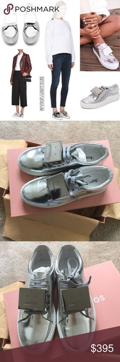 Acne Studios Adriana metallic sneakers 7/37 Brand new, 💯 authentic, only tried on once,❌NO TRADE‼️ Acne Shoes Sneakers