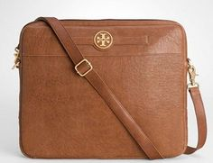 The Upside Of Traveling With Your Computer: The Tory Burch Laptop Bag