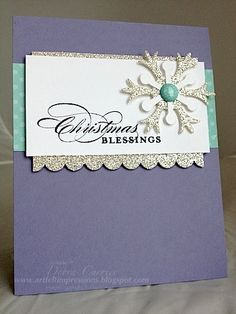 More Merry Messages Snowflake. SU Card by Debra Currier at ARTfelt Impressions