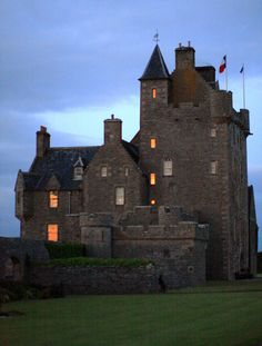 Dusk, Ackergil Tower, Wick, Scotland photo by Erik Charlton Ackergill Tower (or Ackergill Castle) is a castle located north of Wick, Caithness, in northern Scotland. (Wikipedia)
