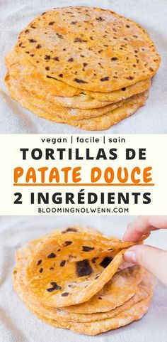 Vegan Sweet Potato Tortillas with only 2 ingredients! Healthy vegan tortillas for tacos, wraps, burritos and more. Mexican Food Recipes, Whole Food Recipes, Vegetarian Recipes, Cooking Recipes, Healthy Recipes, Vegan Sweet Potato Recipes, Recipes Dinner, Sweat Potato Recipes, Free Recipes