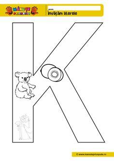 Comunicare in limba romana Archives - Pagina 2 din 5 - Manute Pricepute School Lessons, Diy Garden Decor, Letters And Numbers, Kindergarten, Preschool, Symbols, Montessori, Searching, Craft