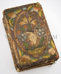 """Embroidered book, """"The Whole Booke of Psalmes"""" 17th Century"""