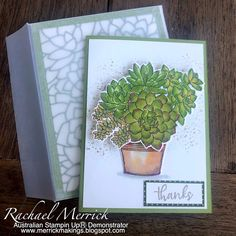 Love Cards, Diy Cards, Thank You Cards, Vellum Envelope, Quick Crafts, Hand Stamped Cards, Cactus, Stamping Up Cards, Penny Black
