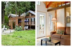This lush garden cottage borders Lily Point Marine Park, which offers 250 acres of trails and Pacific tidelands. Its interiors are small but quaint, with exposed wood walls and stained glass windows. From $109. See more at Airbnb »   - HouseBeautiful.com