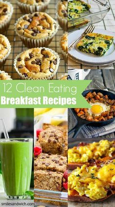 12 Clean Eating Breakfast Recipes - These healthy breakfast recipes are perfect for Mother's Day and Easter! 12 Clean Eating Breakfast Recipes - These healthy breakfast recipes are perfect for Mother's Day and Easter! Clean Eating Breakfast, Health Breakfast, Healthy Breakfast Recipes, Healthy Snacks, Healthy Eating, Healthy Recipes, Breakfast Bars, Eating Clean, Avacado Breakfast