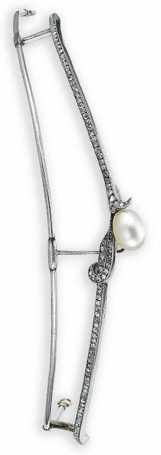 19th Century Pearl and Diamond Tiara