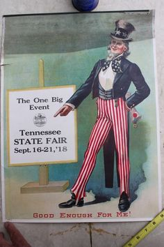 1918 Tennessee State Fair Uncle Sam