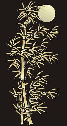 Bambú plantillas de gran tamaño de bambú y la Luna Stencil