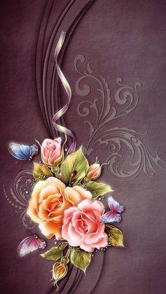 Roses phone wallpaper background