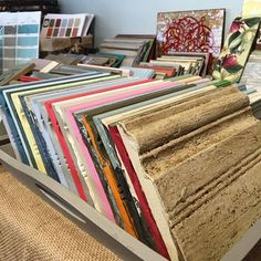 ✨Not sure where to begin? Draw inspiration for your projects from our stacks & stacks of sample boards! ✔️ Open until 5 today!   #inspiration #idea #anniesloan #chalkpaint #morethanpaint #home #decor #interior #design #diy #paintpassionnj #redbank #reinvent #nj #newjersey #monmouthcounty #shoplocal #stockist #project