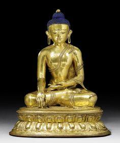 BUDDHA SHAKYAMUNI   Tibet, 15th c. H 37 cm.