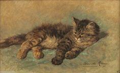 Tabby Cat : Henriëtte Ronner-Knip : circa 1896 Archival R...