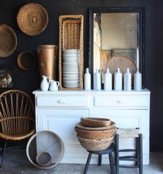 Expert Advice: An Insider's Guide to Sleuthing Antiques and Housewares in Paris, with Elsie Green (Remodelista: Sourcebook for the Considered Home) Farmhouse Side Table, French Farmhouse, Farmhouse Style, Bentwood Chairs, Shabby, Cute Dorm Rooms, European Home Decor, Vintage Design, Vintage Decor