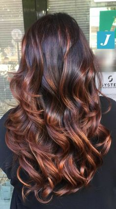 Brown Hair Balayage, Hair Color Balayage, Ombre Hair, Bayalage, Copper Balayage, Caramel Balayage, Brunette Color, Brunette Hair, Long Brunette