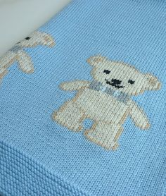 Knitting Pattern for Teddy Bear Baby Blanket - The James Blanket by Le Petit Mouton features 6 teddy bears. #ad More pics and into on Etsy http://www.awin1.com/cread.php?awinaffid=234273&awinmid=6220&p=https%3A%2F%2Fwww.etsy.com%2Flisting%2F463137513%2Fknit-baby-blanket-pattern-baby-blanket%3Fref%3Dlisting-shop-header-2 tba