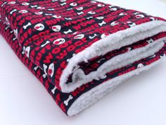 Woof Woof Red Dog Blankets Sherpa Dog Blanket Pet by ComfyPetPads