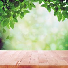 Bokeh Effect, Islamic Cartoon, Poster Background Design, Wood Table, Abstract Backgrounds, Green Leaves, Stock Photos, Nature, Wallpapers
