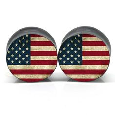 Amazon.com: Acrylic Double Flared Murrica Ear Gauges Plugs 1 Inch 25mm: Jewelry $22