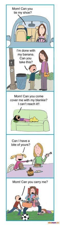 OMGee, they made a cartoon of my life?!? I thought I was the only one who has to go clear across the house to cover my 4 year old with his blanket!