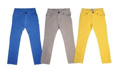 Crayola-colored slimfit pants are here to stay! We love them in all colors paired with plaids, stripes, hoodies & blazers!