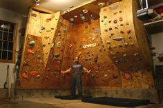 """After taking a trip to The Spot, in Boulder, I was energized to boulder really hard, so I decided to rebuild the far right section of the wall. I figured that I could bend some plywood and make a """"wave"""", that would resemble a roof problem that comes in..."""