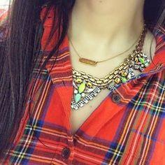 Monogrammed Necklace |Signature Engravable Bar Necklace | Stella & Dot
