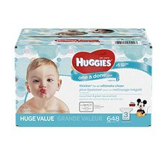 HUGGIES One and Done Refreshing Baby Wipes Refill Pack 3Pack 648 Sheets Total Scented Alcoholfree Hypoallergenic ** Read more at the image link.