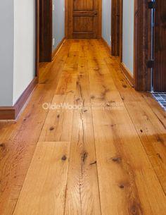 Wide Plank Oak Flooring | Reclaimed Resawn Oak Floor | Olde Wood