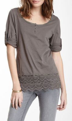 When I'm thrifting, I see Tons of 3/4 length-sleeve tops and lots of them are Really cute/pretty. But I can't wear them; they feel awful on my arms. This shows a stylish way to shorten them, and also a lovely way to lengthen a too-short top.