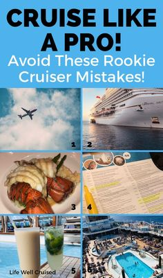 17 New Cruiser Mistakes to avoid: Cruise Like a Pro! - Life Well Cruised - If you are new to cruising, these insider cruise tips will help you to plan your perfect cruise,an - Cruise Packing Tips, Cruise Travel, Cruise Vacation, Vacations, Packing Lists, Cruise Excursions, Cruise Destinations, Cruise Port, Top Cruise