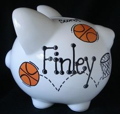Basketball  Personalized Piggy Bank by Dizigns on Etsy, $21.00